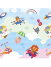 TAPETE BABY PLAY MAT DUPLA FACE 185 X 125 CM I LOVE SKY SAFETY 1ST IMP91345